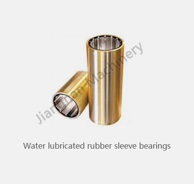 Water lubricated rubber bearings